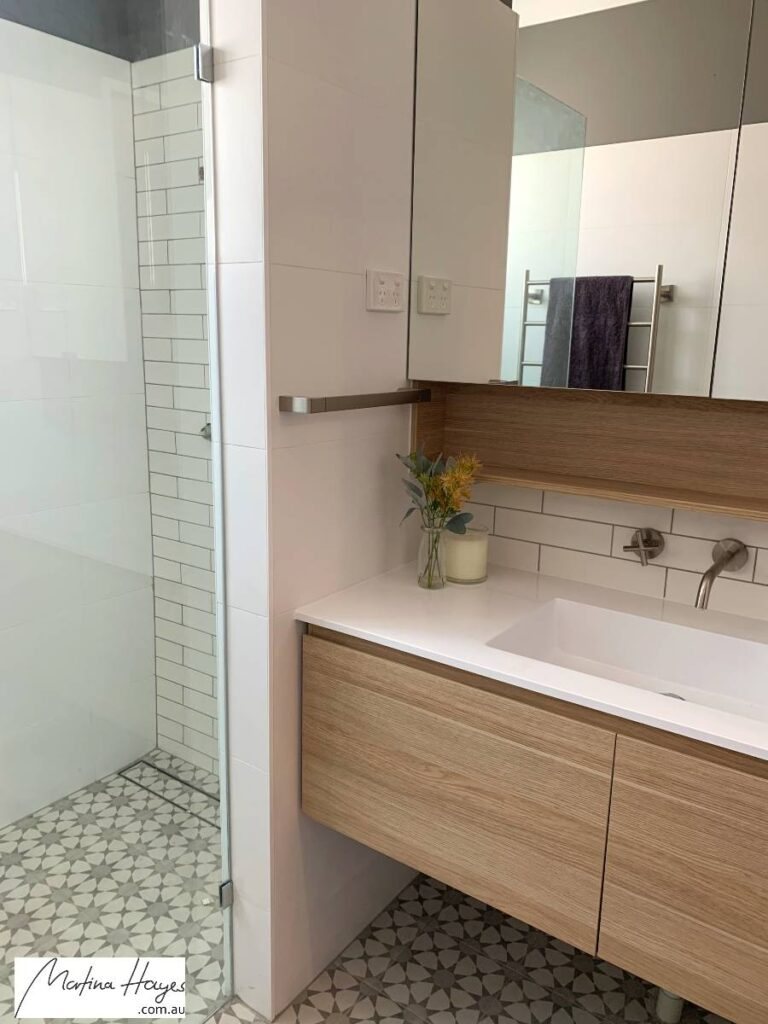 Bathroom with timber vanity