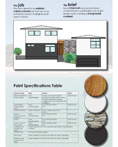 facade mock-up exterior colour consulting