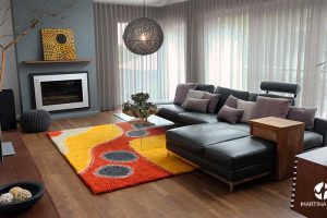 Family room design with indigenous touch