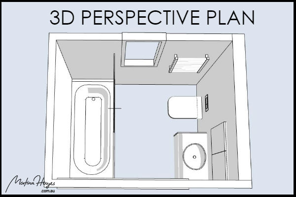 Farmhouse-Bathroom-Design-Chatswood-3D-Perspective-Plan-Drawing