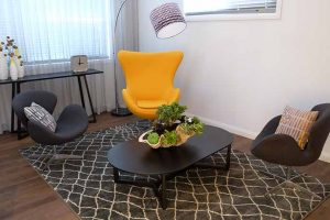 Small lounge room design, North Sydney