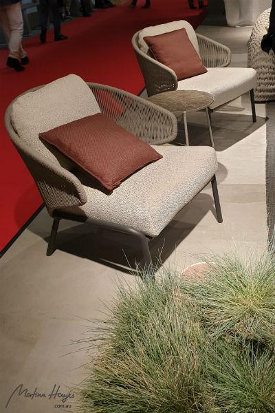 interior design trend: woven chair frames