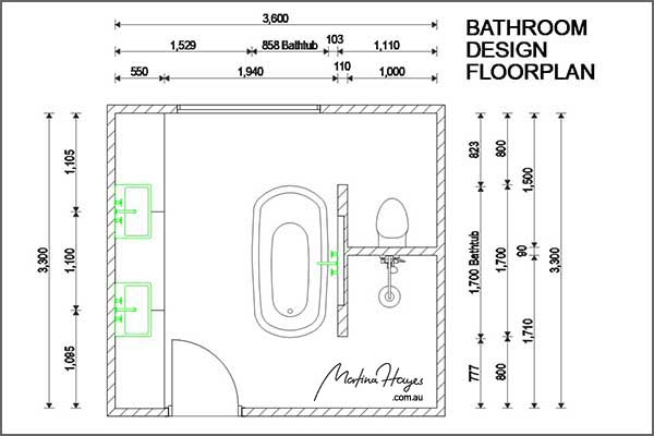 Bathroom design north sydney floorplan