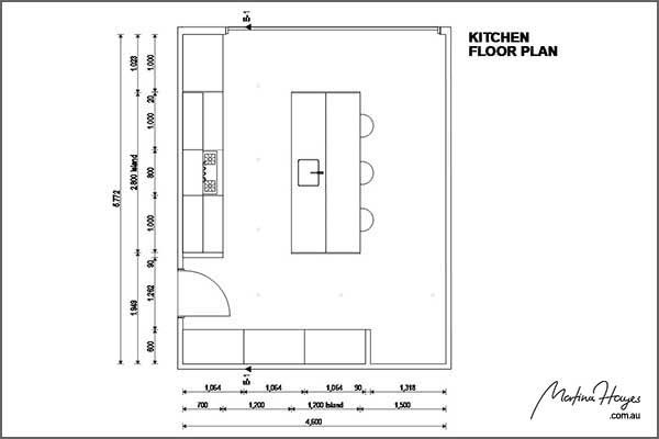 kitchen design Mosman floorplan