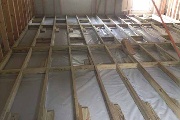 Timber subfloor joists