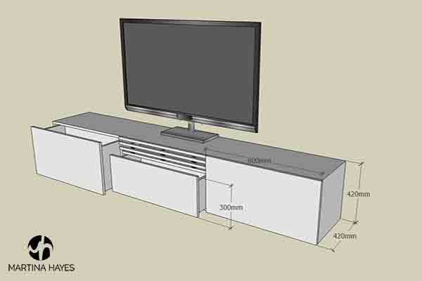 TV-Media-Unit-Bespoke-Custom-Made-Furniture-Design-Drawing-Sydney