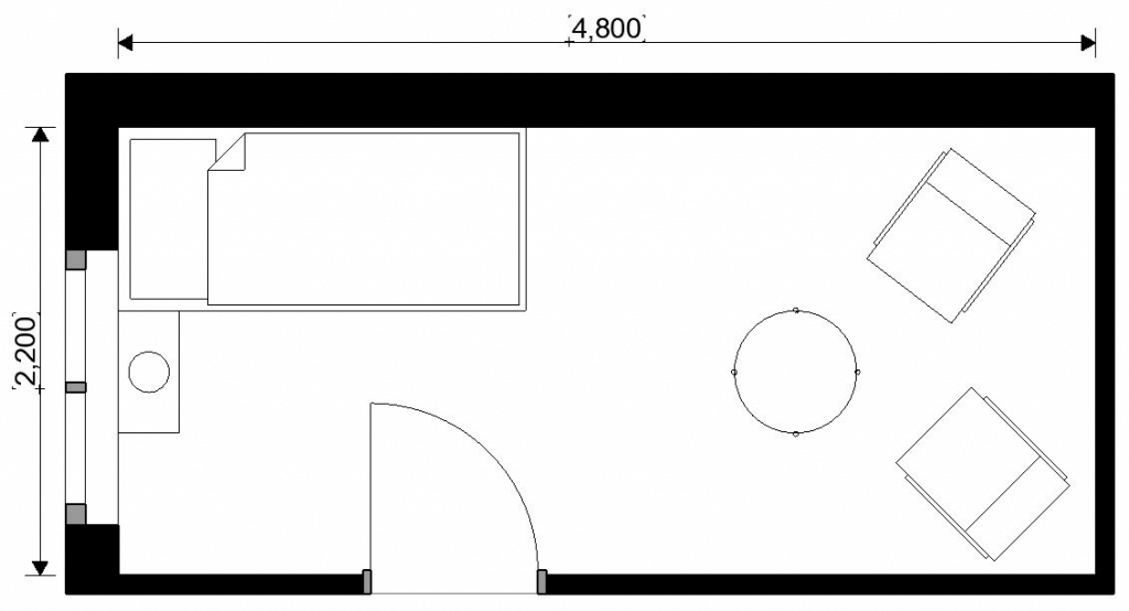Floorplan showing bedroom