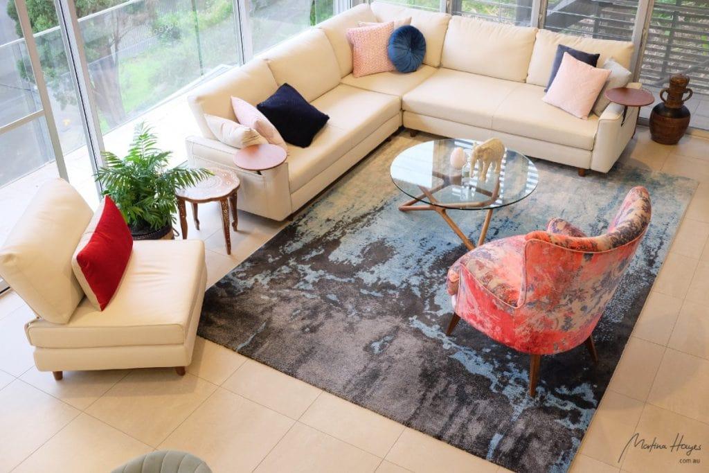 contemporary style open plan living room mosman